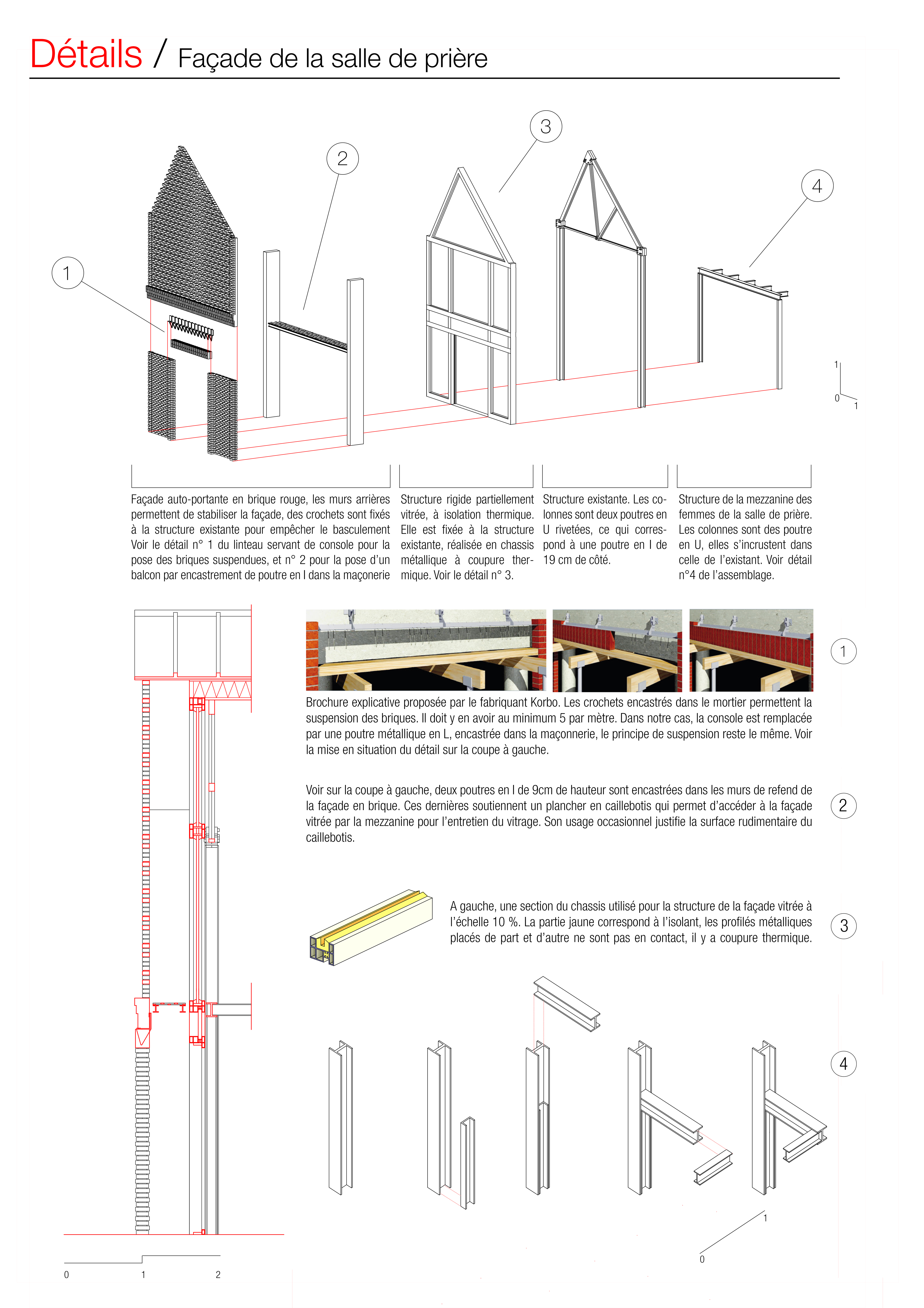 A1 planche details façade